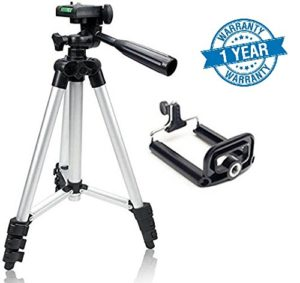 SYVO TRIPOD - 3110 PORTABLE & FOLDABLE MOBILE TRIPOD WITH MOBILE CLIP HOLDER