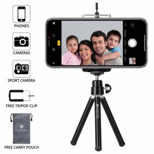 EVERYCOM EXTENDABLE LEGS 20CM BLACK TRIPOD FOR ALL IPHONE AND ANDROID PHONES